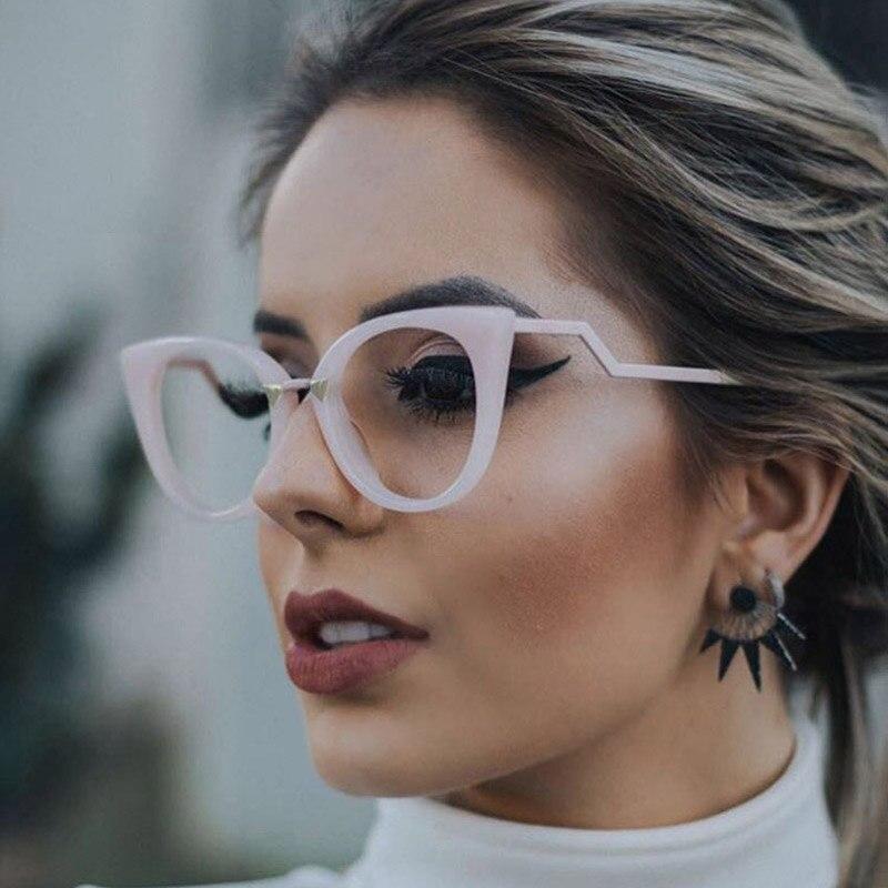 Eyeglasses Spectacle Frame Women Cat Eye Computer Optical Glasses Myopia For Ladies Prescription Eyewear Frame Glasses