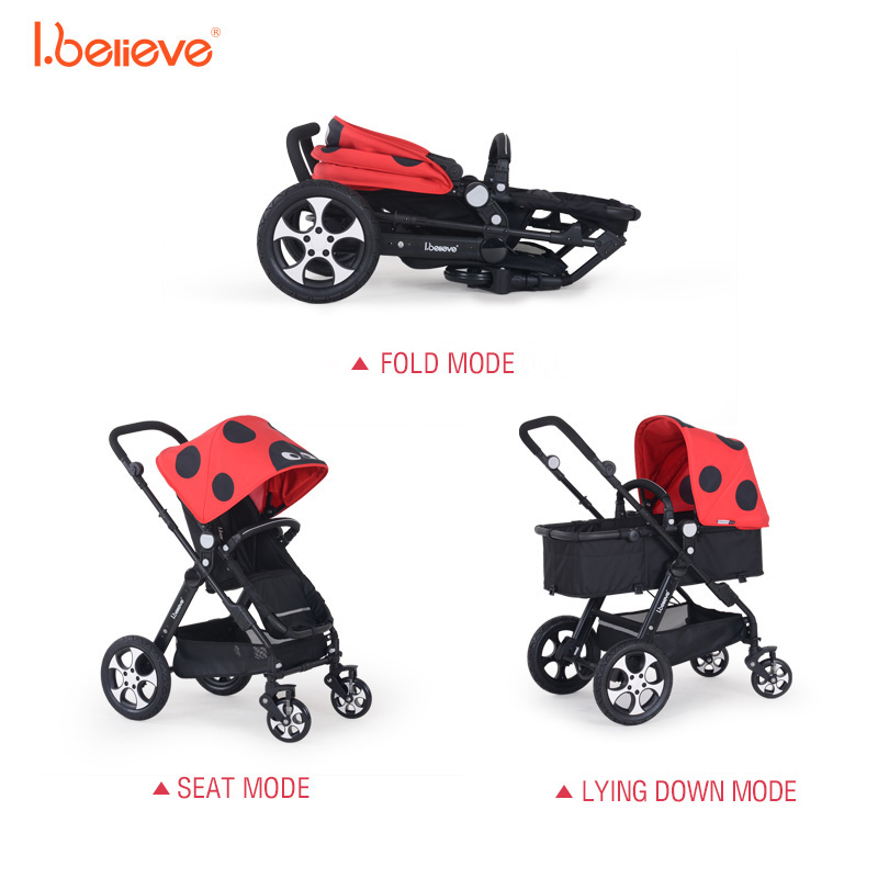 I.believe Baby Stroller I-S025 Sit&Lie High Landscope Folding Shock Absorbers Baby Carriage 0-3 Years Pram SGS certification