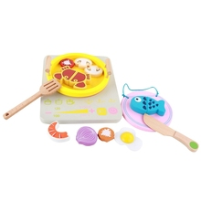 Play House Toy Wooden Kitchen Hot Pot Cooker ChildrenS Toys