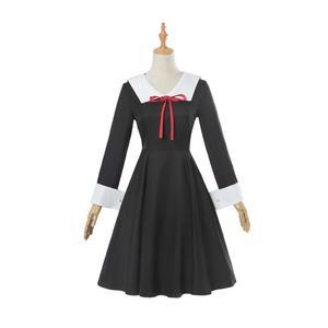 Image 3 - אנימה Kaguya sama: אהבה היא מלחמת קוספליי תלבושות Kaguya צ יקה קוספליי תלבושות יפני בית ספר אחיד נשים קיץ שמלת ופאות