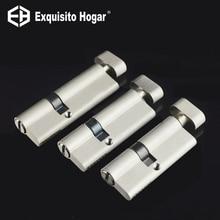 Нерегулярные безопасности 75 80 90 мм дверной замок латунный цилиндр один открытый ручки эксцентричный Вход Спальня цилиндр медь