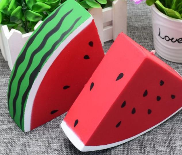 20pcs lot -kawaii squishy 13cm Watermelon fruit triangle Cell Phone Straps ,slow rising . wholesale chinese cheap FREE SHIPPING