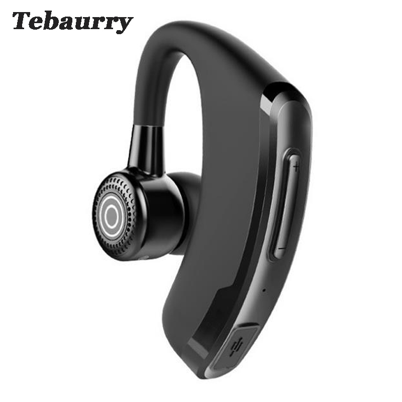 Tebaurry P9 Business Bluetooth Headset With Mic Voice Control Handsfree Wireless Bluetooth Earphone Headphone Sports audifono bq 618 wireless bluetooth v4 1 edr headset support handsfree earphone with intelligent voice navigation for cellphones tablet