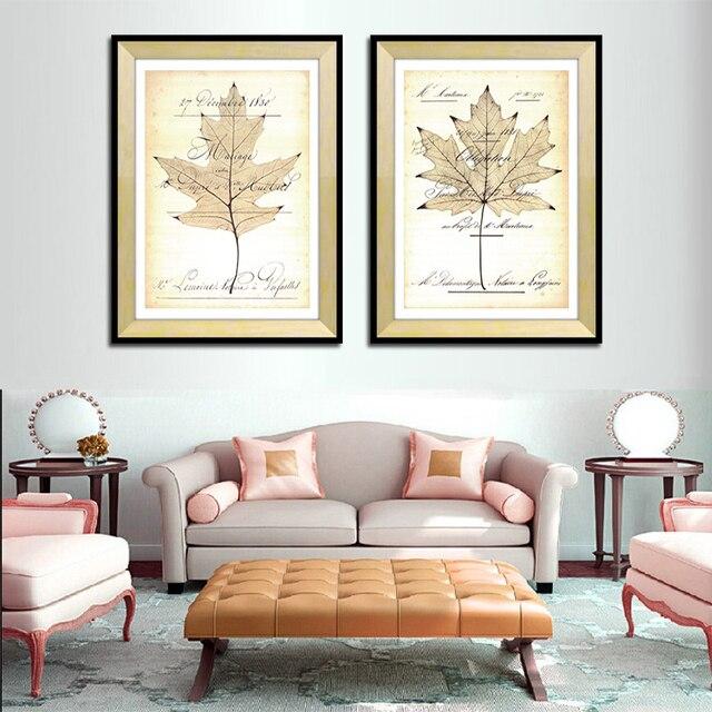 Modern home decor Maple Leaf tela foto arte parete per camera da ...