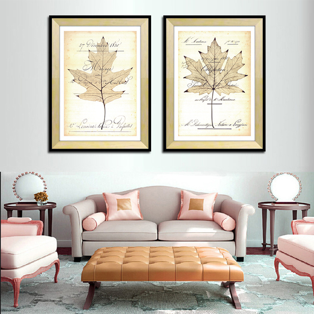 Moderne wohnkultur Maple Leaf leinwand wandkunst bild für ...