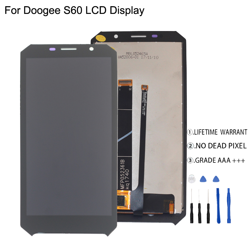 Original For Doogee S60 LCD Display Touch Screen Digitizer Assembly For Doogee S60 Display Screen LCD Phone Parts