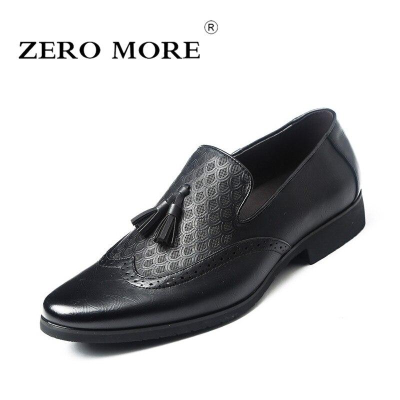 Fringe Fashion Hommes 2019 Offre Chaussures Plus marron Gland Spéciale Sur Noir Derbies Vintage Casual Slip Zéro Mens Mocassins qRBY0x