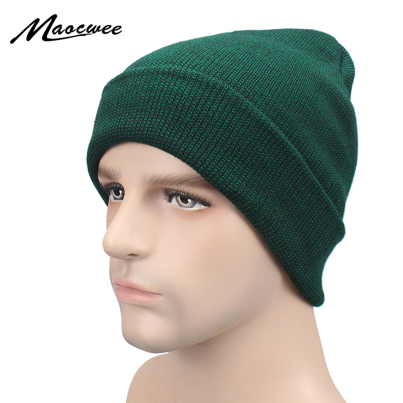 Women Men Knitting   Beanie   Hip Hop Autumn Winter Warm Caps Unisex 7 Colors Hats For Women Feminino Green   Skullies     Beanies   2018