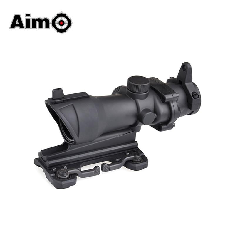 Aim-O Tactical Acog Riflescope Softair Pistol Collimator Sight Hunting Rifle Scope ACOG 4X32 Scope With QD Mount AO5314