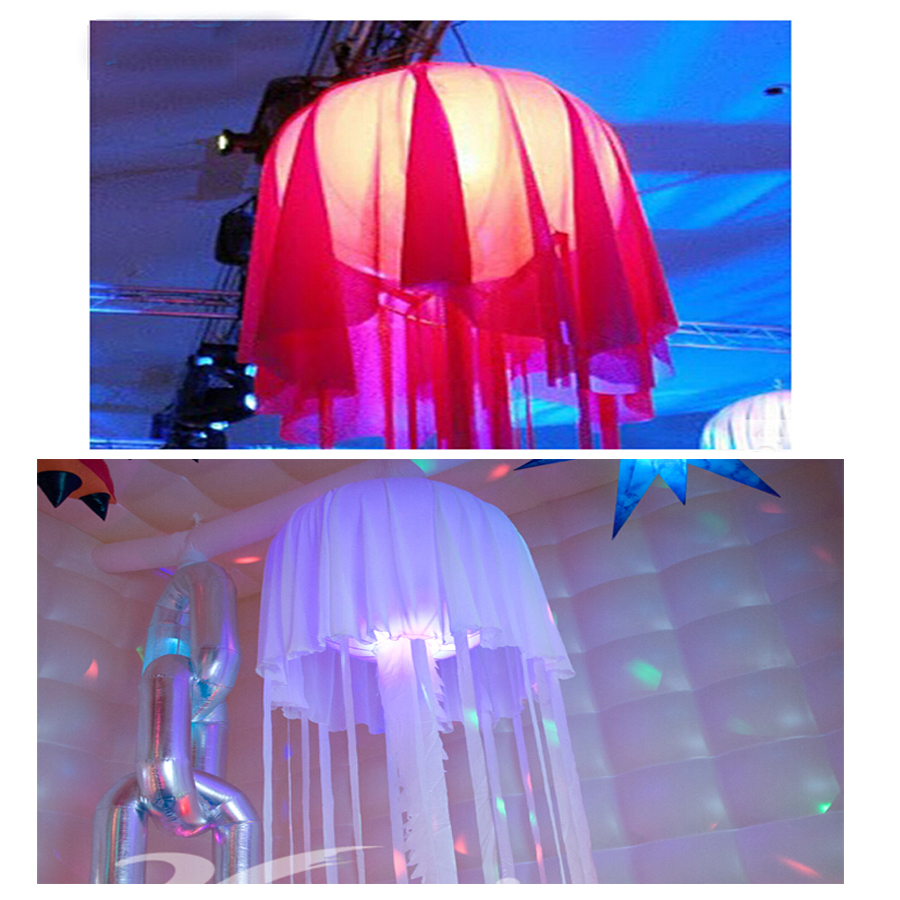 1pc  Event Jellyfish Inflatable LED Light (diameter=1.2m ,height =4m ) ,with the Silent fan 6 5ft diameter inflatable beach ball helium balloon for advertisement