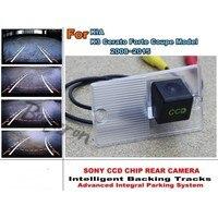 For KIA Cerato / Sephia / Sephia 5 LD Hatchback 2003~2009 Smart Tracks Chip Camera HD CCD Intelligent Dynamic Rear View Camera