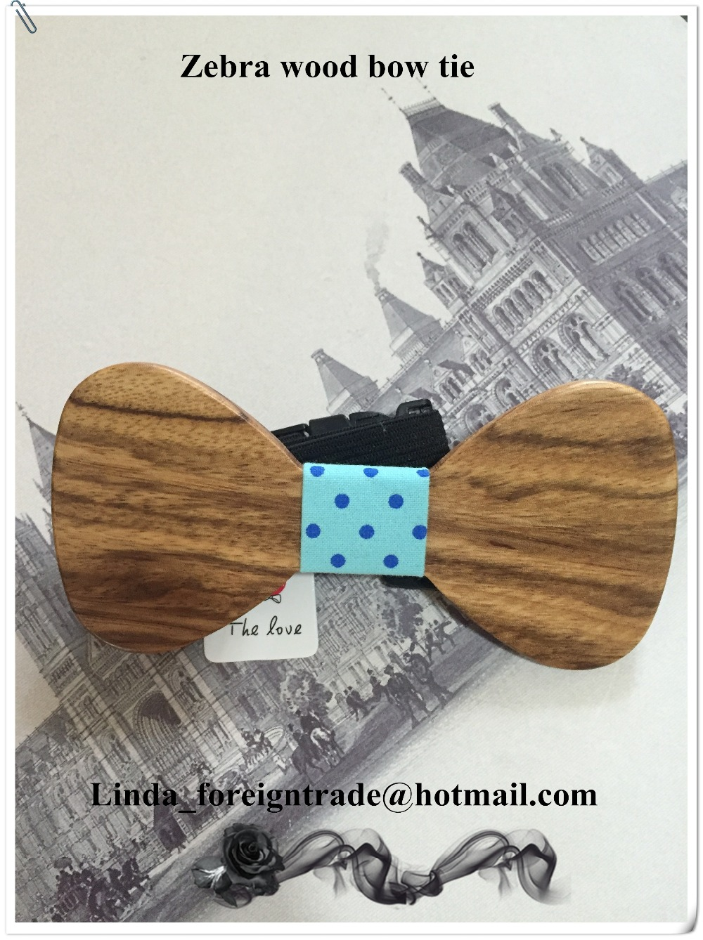 Christmas gifts Fun personality men leisure wooden bow ties bowtie