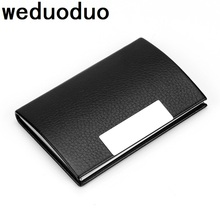 Weduoduo New Card holder Stainless Steel Metal Case Box Men Women Business Credit Holder Cover Coin wallet