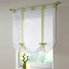 7 Colors 2 Size Cute Roman Curtain Home Decoration Blinds Tulle Window Curtains For Living Room White Voile VBJ32