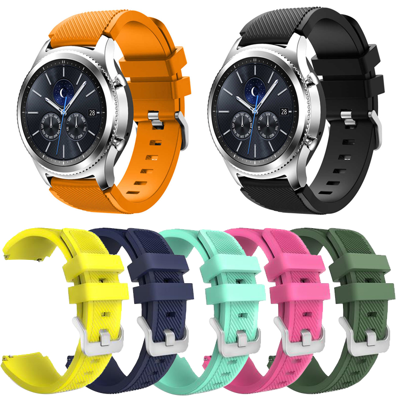 22mm Silicone Watchbands 18 Colors For Galaxy Watch 46mm Gear S3 Frontier Watch Band Strap Watch Accessories Bracelet