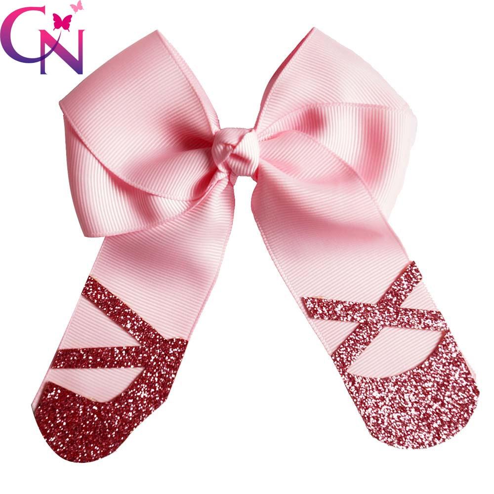 """5"""" glitter dance shoe shape hair"""