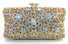 Frau Luxus Diamant Strass Abendtasche Kristall Tasche Brieftasche Brauthandtasche Partei Bankett Schwarz/Gold/Silber/rot