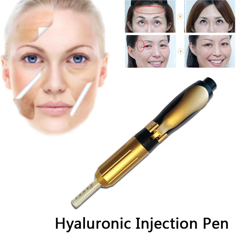 2019 new High Pressure Hyaluronic Acid Pen High density metal For Anti Wrinkle Lifting Lip hyaluron gun atomizer hyaluron pen in Tattoo Tips from Beauty Health