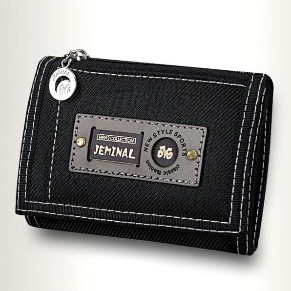 Men Wallets Hasp Zipper Canvas Male Purses Short Wallet Good Qaulity Cards ID Holder Money Bags Clutch Coin Purse Burse Pocket