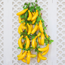 8pcs Artificial Mini Banana Simulated Small Foam Fruit Christmas Fake Family Kitchen Wedding Ornament