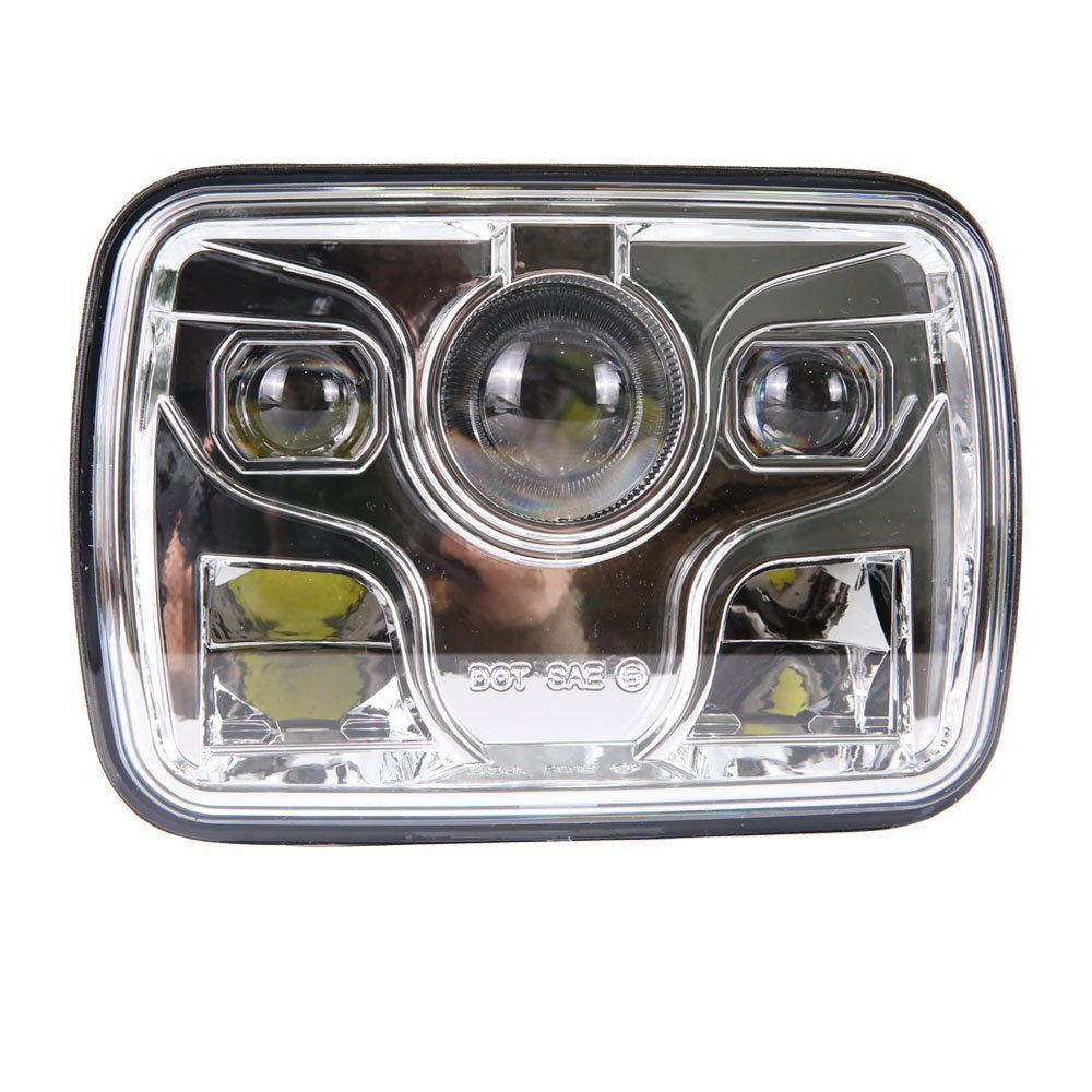 2x square 5x7 inch led headlight daymaker sealed beam replacement