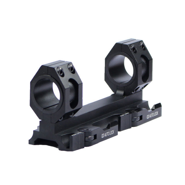Tactical HeavyDuty Scope Mount Dual Ring 25.4mm 30mm Quick Release Cantilever Picatinny Weaver Forward Reach Rail Mount