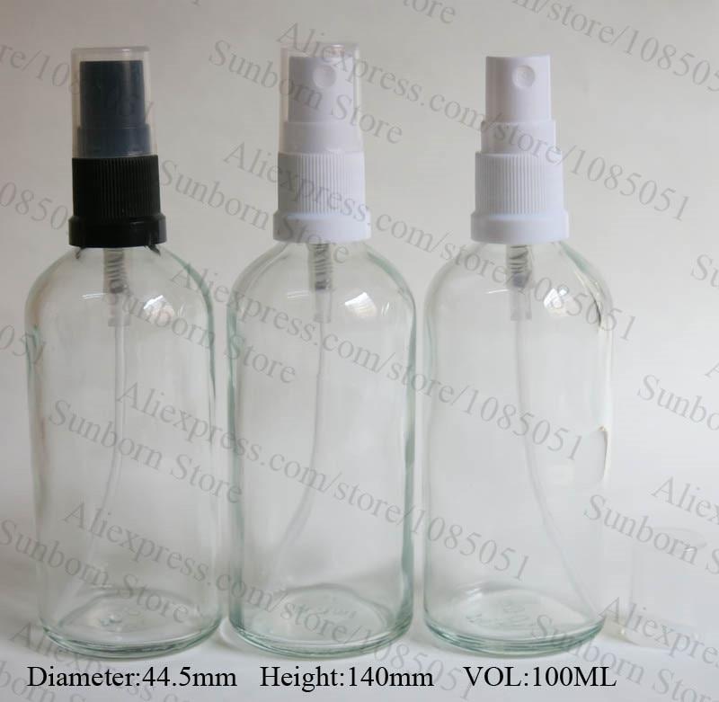 500 x 100ml clear glass perfume bottle, spray glass bottle 100 ml, 100ml flint glass cosmetic bottle
