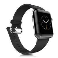 NOTO Black Color Metal Classic Buckle Leather Watchband Classic Leather Strap For Apple Watch AWCBLS BK