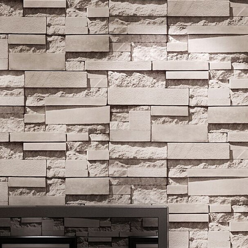 beibehang Brick Vinyl Wallpaper for walls 3 d papel de parede 3D Living Room home Decor Wall Paper roll stickers papier peint black white plaid pvc thickened waterproof wallpaper modern living room kitchen wall decor vinyl wall paper roll papel de parede
