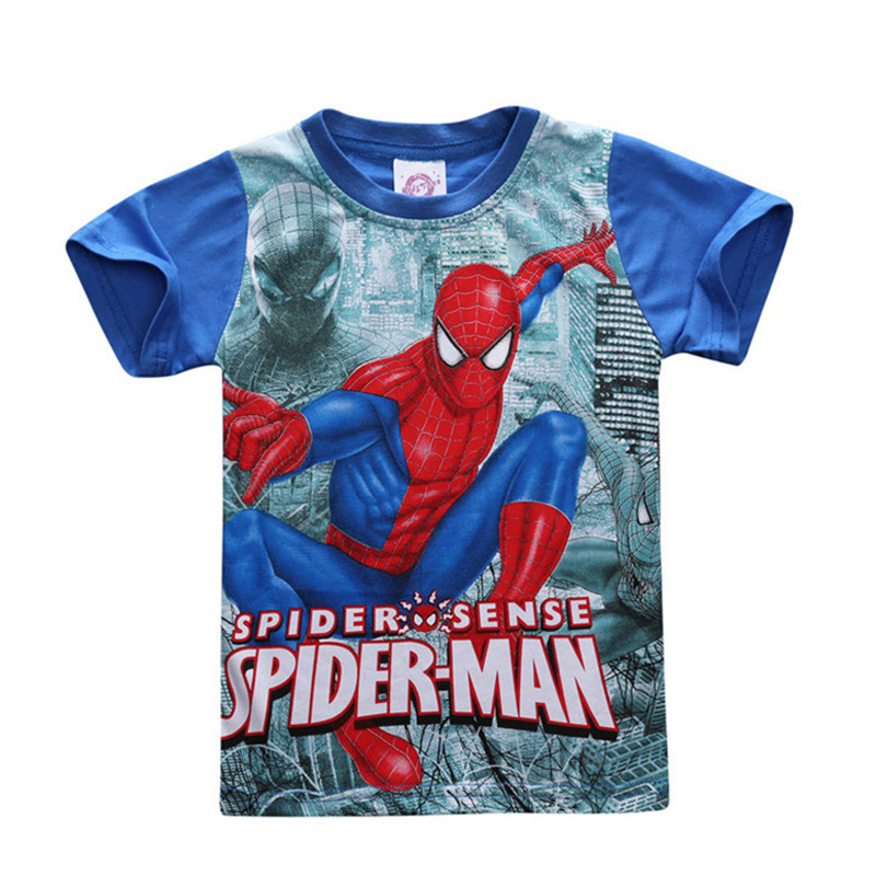 best t shirt spiderman kid list and get free shipping - a767