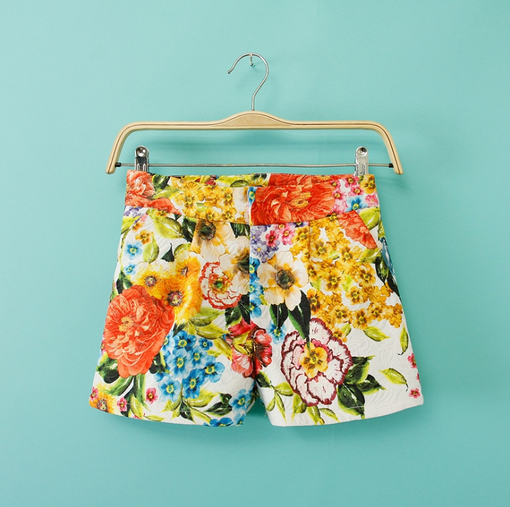 ASDS 2018 New Women Sexy Big Floral Printing Summer   Shorts   Ladies Contain lining   Short   Feminino WDK17538