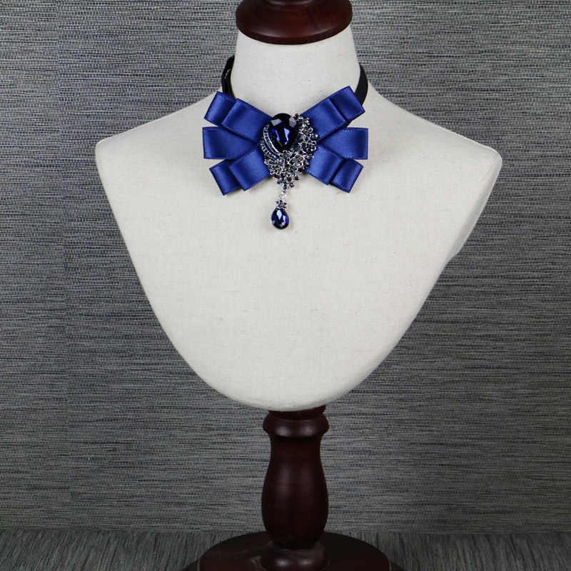 Британский Роскошные галстук платье алмаз воротник метросексуал Свадебные
