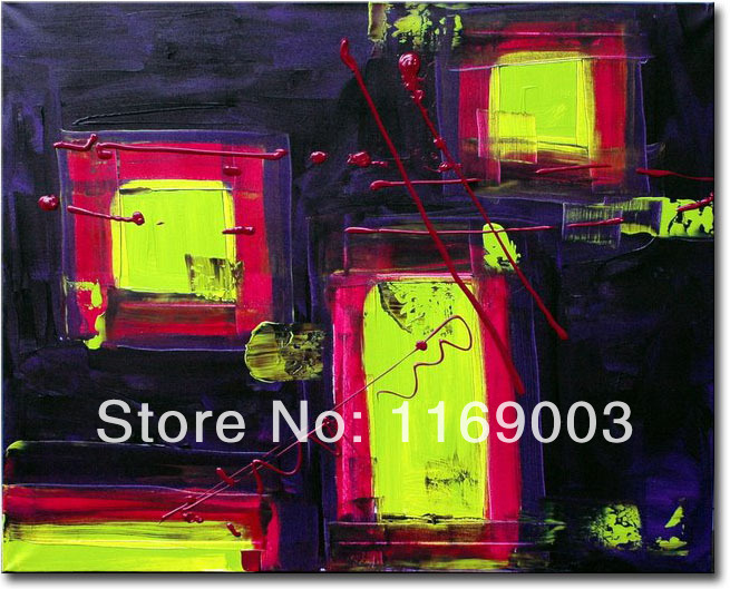 Cheap Abstract modern canvas art font b knife b font paint famous purple oil painting only
