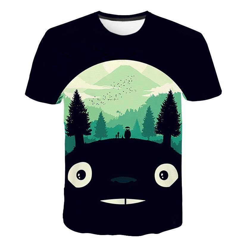 Print Spirited away Japanese Anime T shirt Unisex Short sleeve O Neck Howl 39 s Moving Castle Casual Miyazaki Hayao Totoro T shirt in T Shirts from Men 39 s Clothing