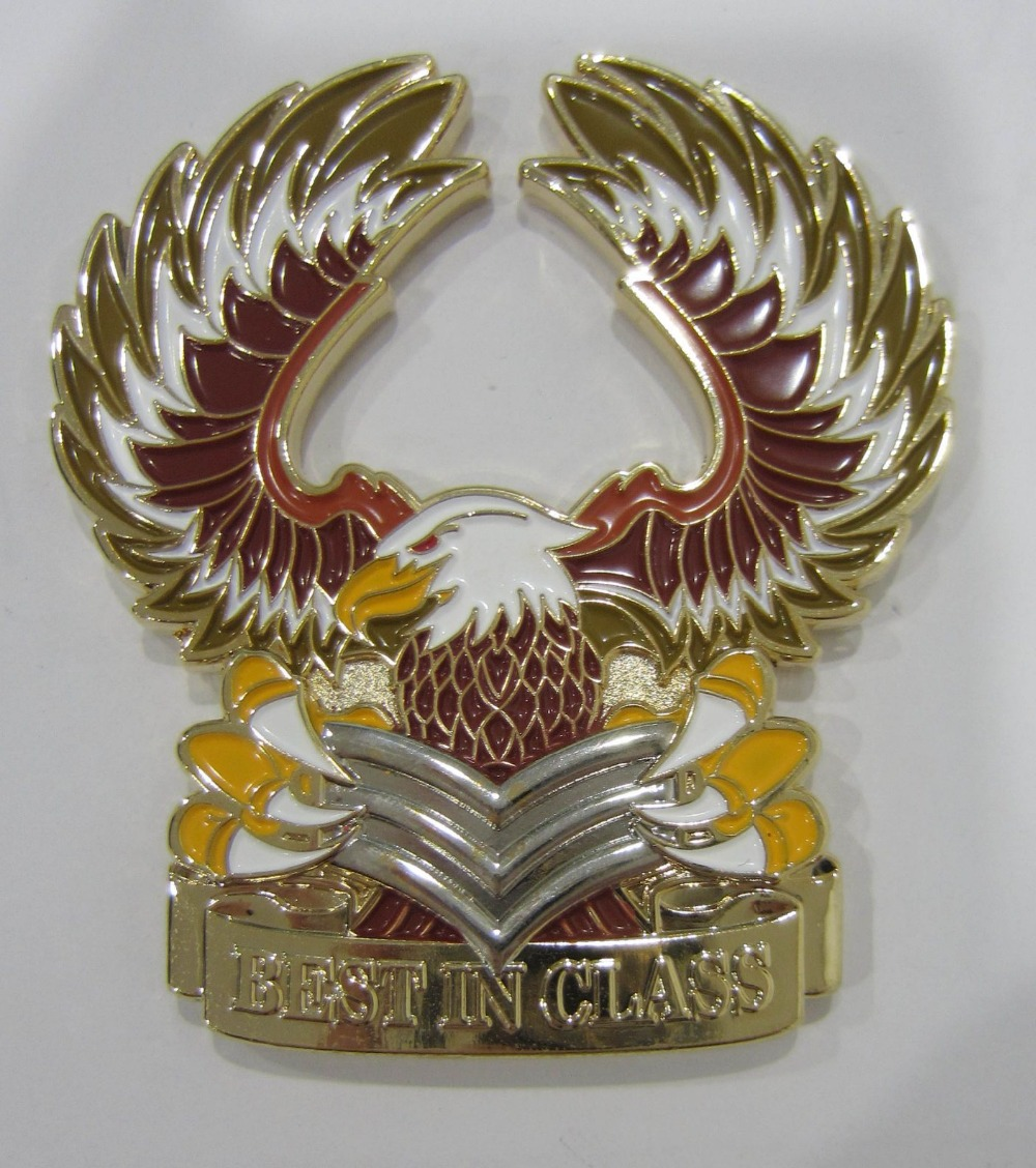 Best selling for aluminum alloy gold coin new eagle logo