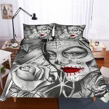 Beauty Skull Printed Bedding Set Duvet Cover Comforter Bedding Sets 13 Size US AU GB Comforters Bedclothes Bed Linen bed set стоимость