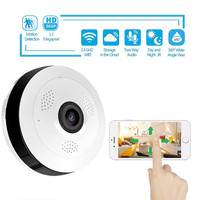 360 Degree Panoramic Wide Angle MINI Cctv Camera V380 Smart IP Camera Wireless Fisheye Lens 1080P