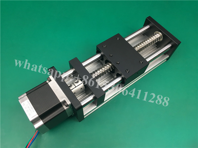 High Precision CNC GGP ballscrew 1204 Sliding Table effective stroke 200mm+1pc nema 17 stepper motor  XYZ axis Linear motion toothed belt drive motorized stepper motor precision guide rail manufacturer guideway