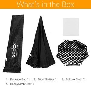 Image 2 - صندوق مثبت من Godox قابل للنقل 80 سنتيمتر 32 بوصة مظلة المثمن + شبكة العسل العاكس للقرص المعسل لمصباح فلاش TT685 V860II