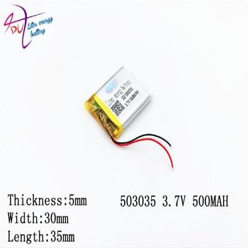 10 個リットルエネルギー供給ポリマーリチウム電池 053030 503035 500 Mah リチウムポリマー電池プラスボード