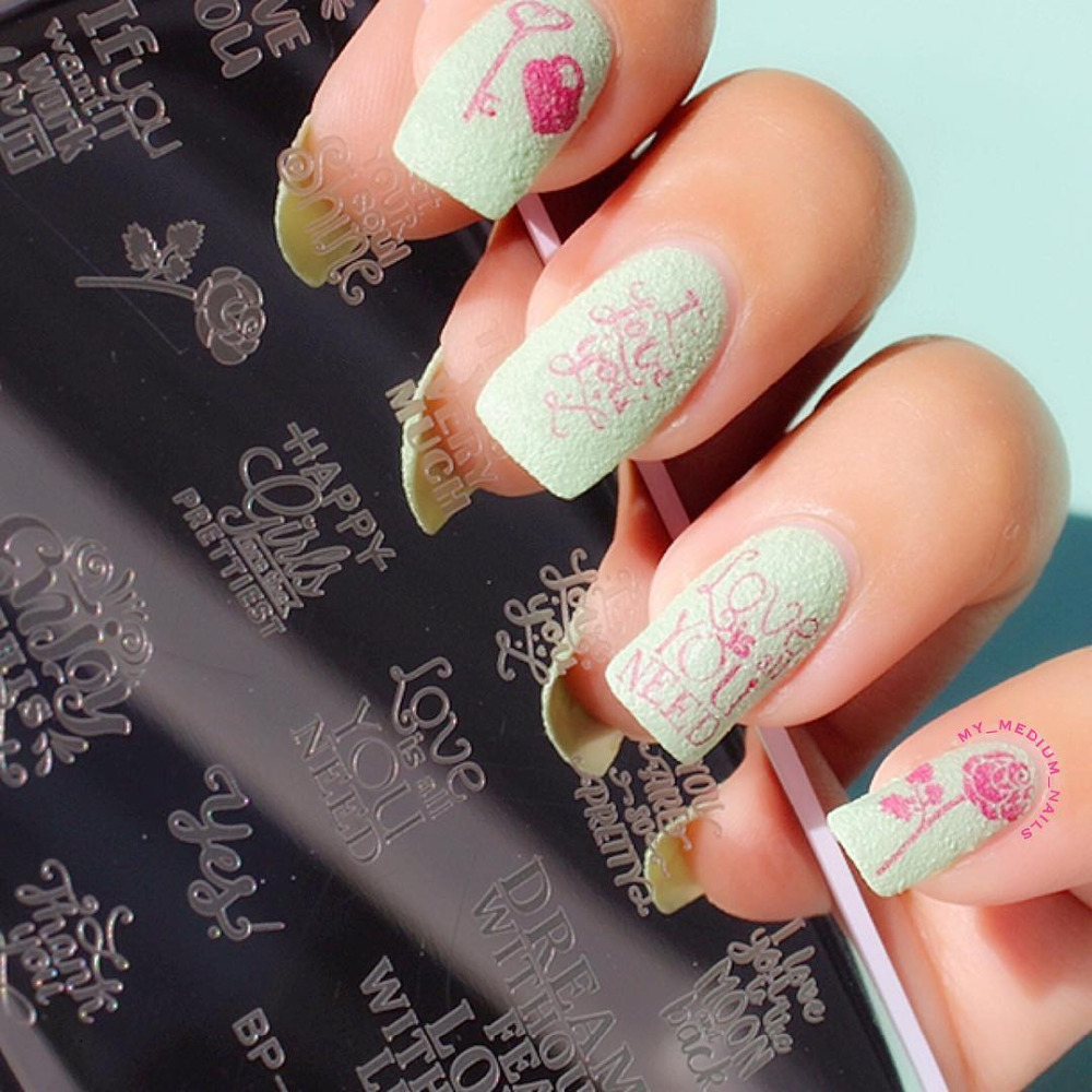 BORN PRETTY 12*6cm Rectangle Nail Stamping Plates Template Beautiful ...