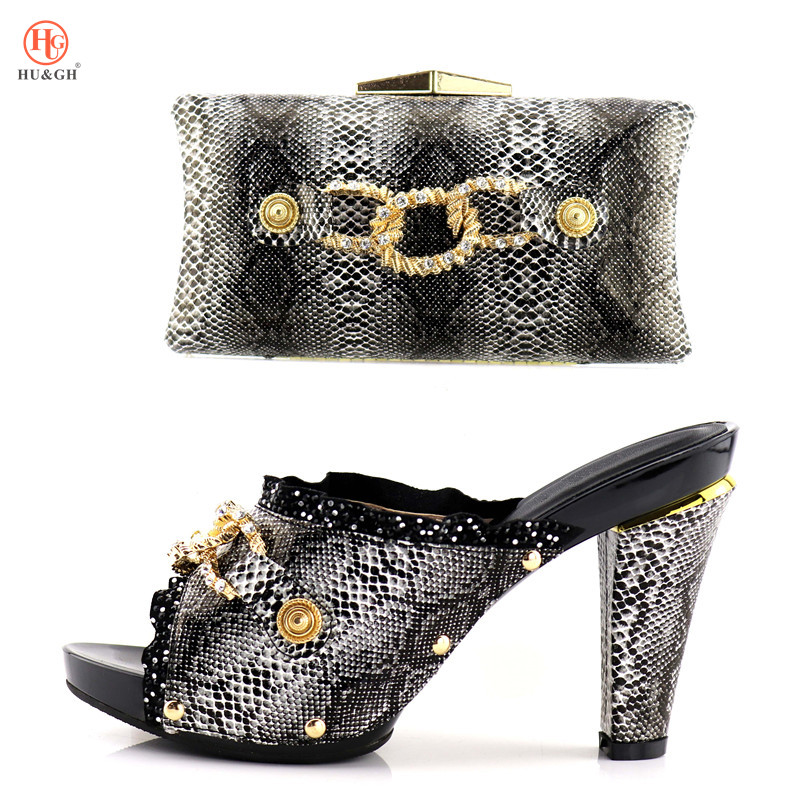 New good Looking African Women Matching Italian Shoe and Bag Set Italian Shoe with Matching Bag for Wedding Ladies High Heels italian shoes with matching bag new design african pumps shoe heels fashion shoes and bag set to matching for party gf25