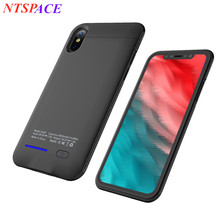 NTSPACE Mobile Power External Battery Case 4000mAh Built-in car magnet For iPhone X Portable Charging Case Backup Battery Cover
