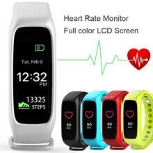 L30t Smart Bracelet 16 million full color TFT-LCD screen Heart Rate Fitness Tracker Smart Band PK ID107