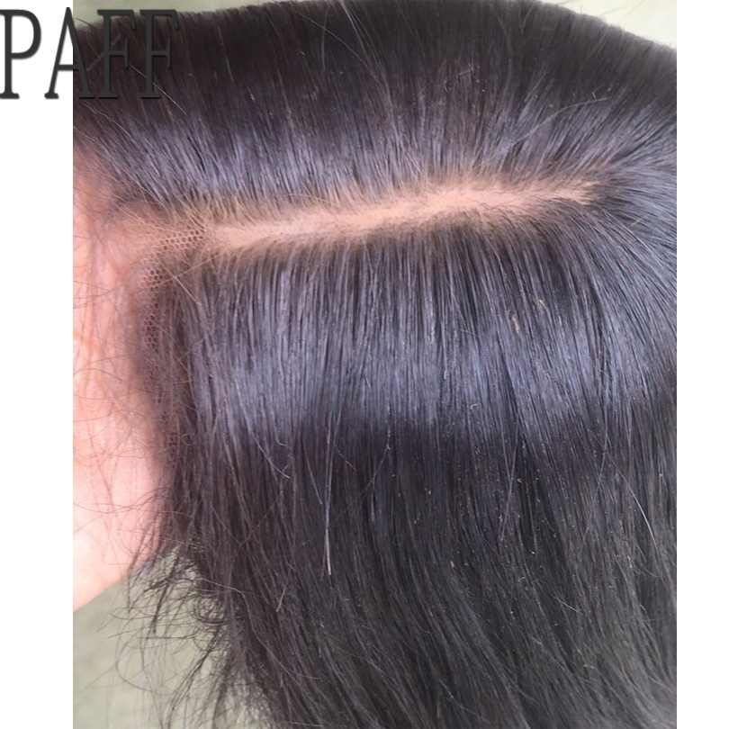 PAFF Silk Base Lace Front Human Hair Wig Glueless With Free Part Peruvian Non Remy Hair Wig Pre Plucked Hairline Bleached Knots