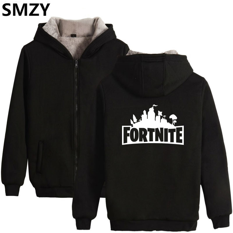 SMZY Fortnite Zipper Hoodies Mens Sweatshirts Funny Cartoon FPS Game Hoodies Mens Sweatshirts Thickening Casual Zipper Clother