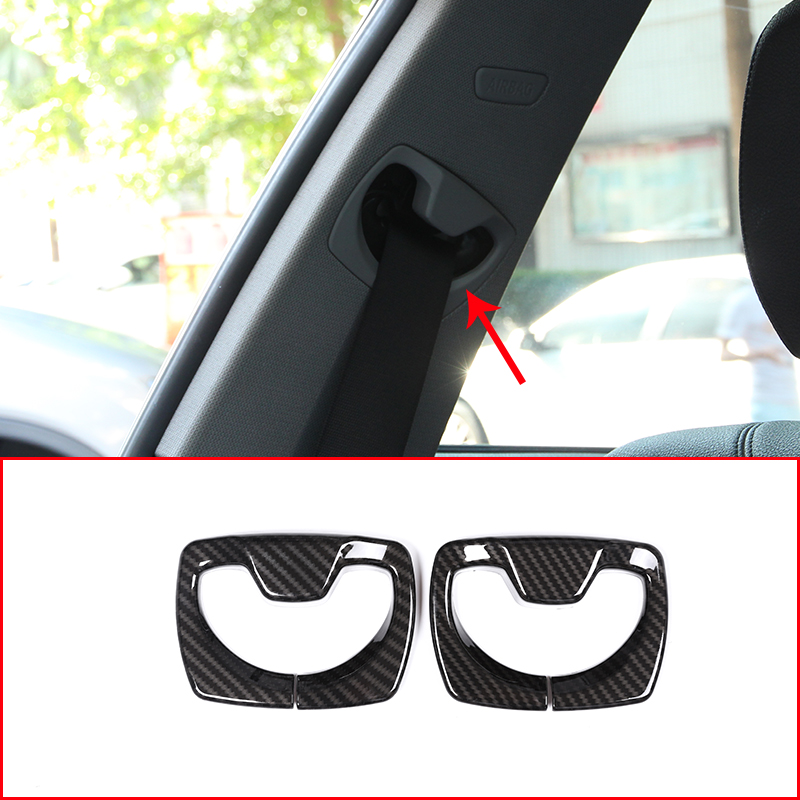 2pcs Carbon Fiber ABS Plastic Car Safety Belt Cover Trim For BMW 3 Series f30 316i 318li 320i 2013-2018 Accessories полуось на bmw 316i в беларуси