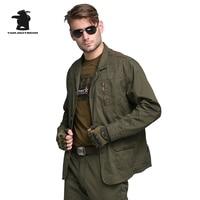 새로운 군사 남성 블레이져 디자이너 패션 육군 녹색 100% 착실히 보내다 플러스 사이즈 캐주얼 블레이져 남성 코트 M ~ 4XL CY8F5079