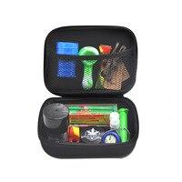 HORNET мешочек для табака набор Пластиковая дробилка табака банка для хранения металла олова силикона курительная трубка курительная машина ...