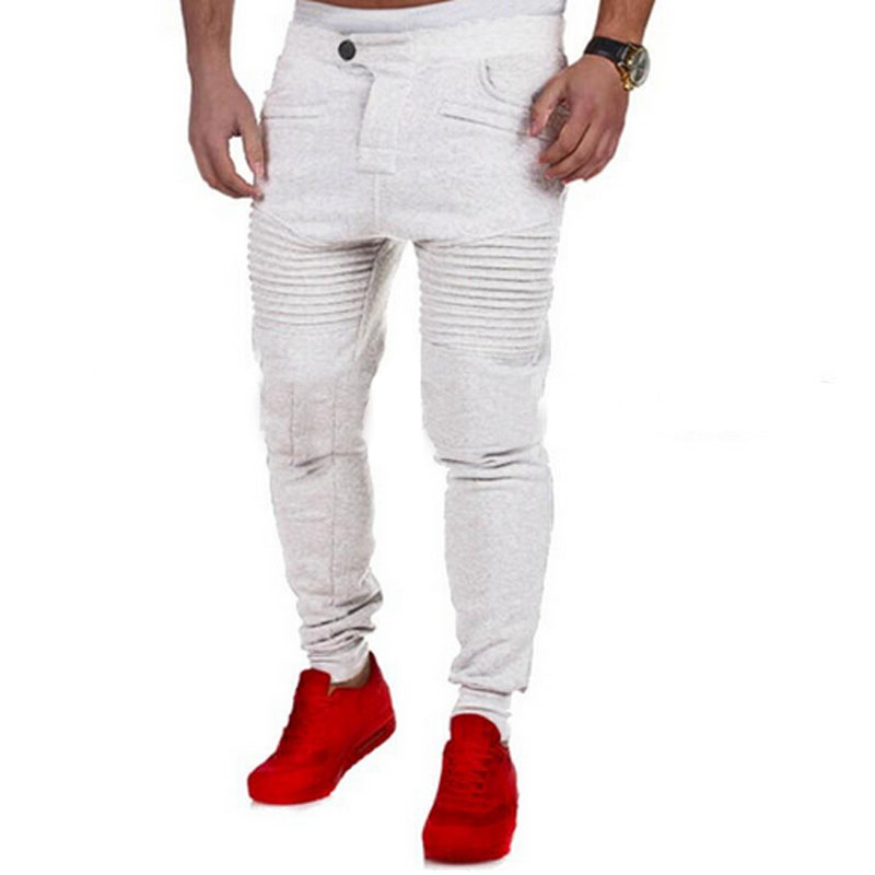 2018 New Fashion Pants Men Casual Striped Jogger Cargo Qunique Design Mens Tranning Sweatpants Bottom Joggers Trousers